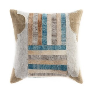 """LR Home Bucolic Turquoise/Multi Indoor Throw Pillow ( 20"""" x 20"""" )"""