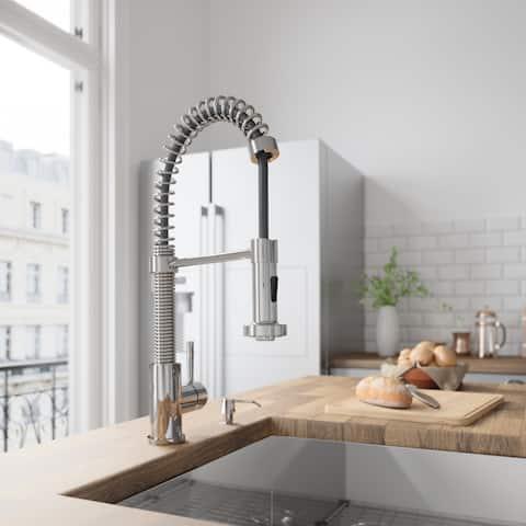 VIGO Edison Chrome Pull-Down Spray Kitchen Faucet