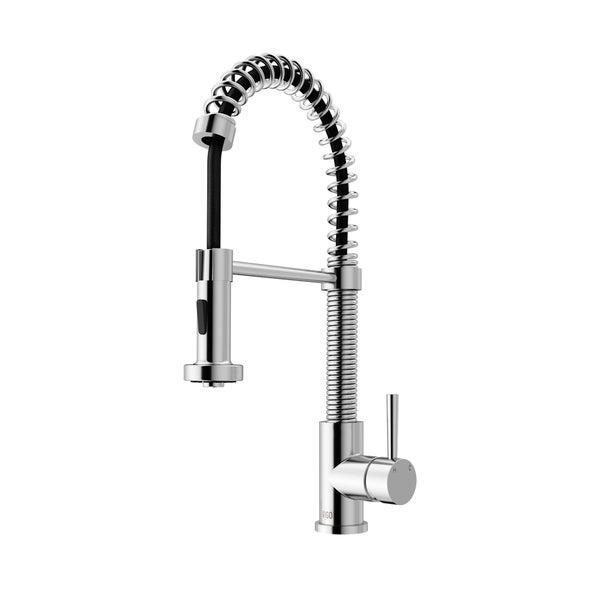 Vigo Edison Chrome Pull Down Spray Kitchen Faucet Free
