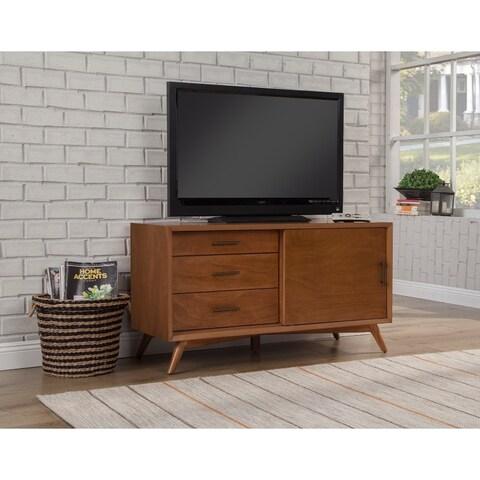 Notable Mahogany Wood Small TV Console, Acorn