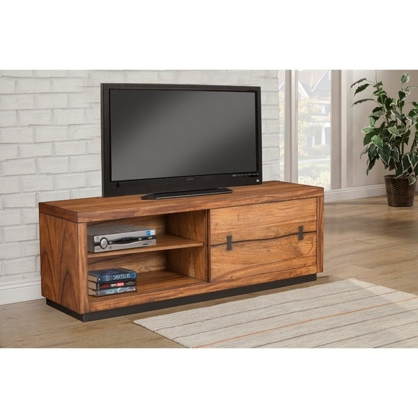 Sophisticated TV Console/ Cabinet In Mahogany Wood Brown