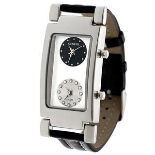 Geneva Men's Two Dial Strap Watch