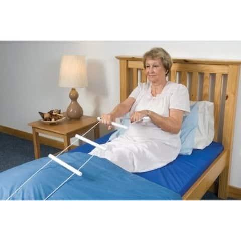 MEDca Bed Ladder Assist Helper Adjustable Home Rope Ladder Pull Up Assist Device w/ Handle Strap Bed Rope Latter Handle Grip