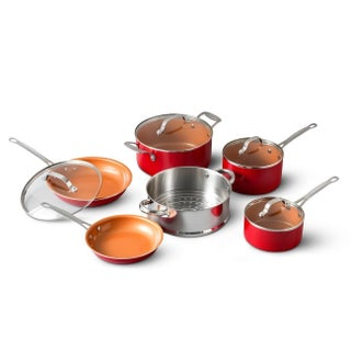 Gotham Steel Non-stick Copper Ti Cerama 10 Piece Cookware Set