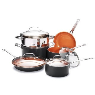 Gotham Steel Non-stick Copper Ti Cerama 10 Piece Cookware Set