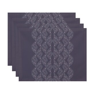 Dotted Focus 18 x 14 Inch Geometric Print Placemat (Set of 4)