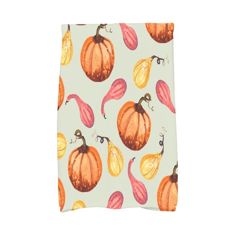 Gourds Galore 16 x 25 Inch Fall Print Kitchen Towel