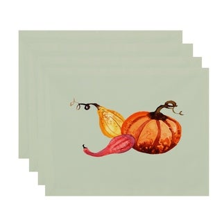 Gourd Pile 18 x 14 Inch Fall Print Placemat (Set of 4)