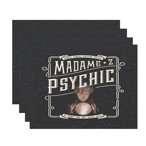 Madame Psychic 18x14 Inch Halloween Print Placemat (Set of 4)