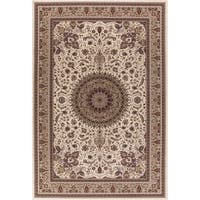 Concord Global Williams Medallion Ivory Area Rug - 6'7 x 9'6