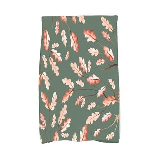 Wild Oak Leaves 16 x 25 Inch Floral Print Kitchen Towel