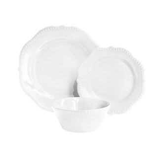 scallop white 12 pc dinner set