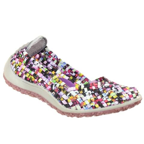 Zee Alexis Spice Womens Woven Slip On Shoes Mosaic