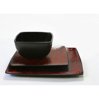 boa red 12 pc dinnerware set