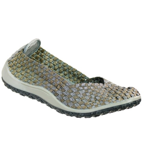 Zee Alexis Spice Womens Woven Slip On Shoes Pewter Bronze