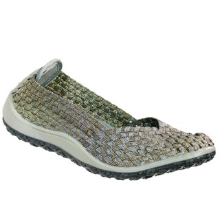 Zee Alexis Spice Womens Woven Slip On Shoes Pewter Bronze (More options available)