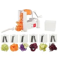 Paderno World Cuisine 6-Blade Spiralizer with Cleaning Brush