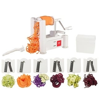 6-Blade Spiralizer with Cleaning Brush