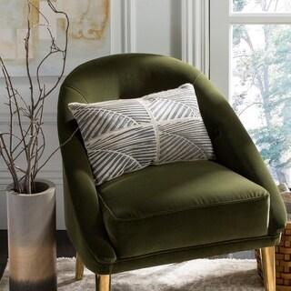 Safavieh Palm White/ Grey Cowhide 12 x 20-inch Decorative Pillow