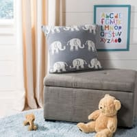 Safavieh Elliot Knit Cotton Grey Elephant 20-inch Pillow
