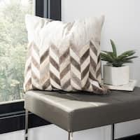 Safavieh Karson Chevron Grey Cowhide 20-inch Pillow