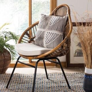Safavieh Palm White/ Grey Cowhide 18-inch 22-inch Decorative Pillow