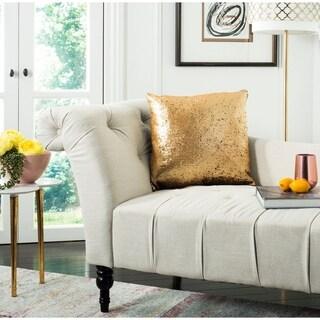 Safavieh Talon Sequin Two-Tone Gold/ Black 20-inch Decorative Pillow