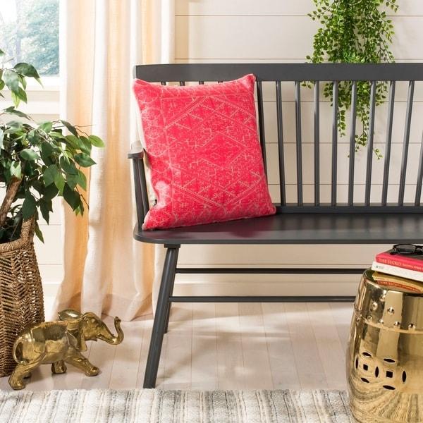 Safavieh Lila Boho Red 20-inch Decorative Pillow