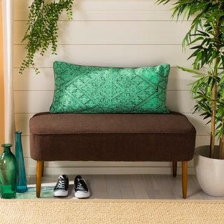 Safavieh Lila Boho Teal Green14 x 30-inch Decorative Pillow