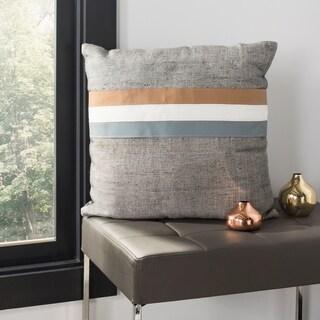 Safavieh Kent Grey Striped Cowhide 20-inch Decorative Pillow