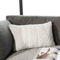 Safavieh Barlett Cream Ruched 12 x 20-inch Decorative Pillow