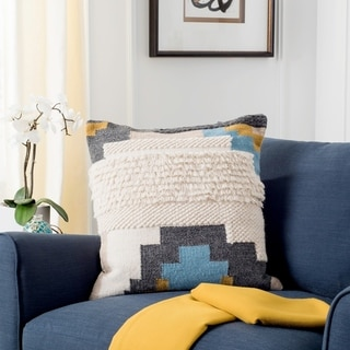 Link to Safavieh Binx Boho Tribal Wool 20-inch Decorative Pillow Similar Items in Decorative Accessories