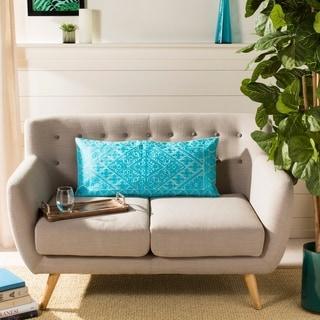 Safavieh Lila Boho Teal Blue 14 x 30-inch Decorative Pillow