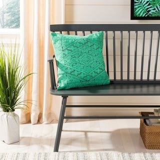 Safavieh Lila Boho Teal Green 20-inch Decorative Pillow