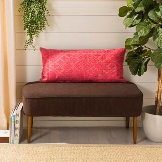 Safavieh Lila Boho Red 14 x 30-inch Decorative Pillow