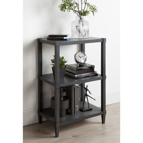 Rio Free-Standing Wooden Bookcase with 3 Shelves