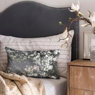 Safavieh Edmee Metallic Blue 12 x 20-inch Decorative Pillow