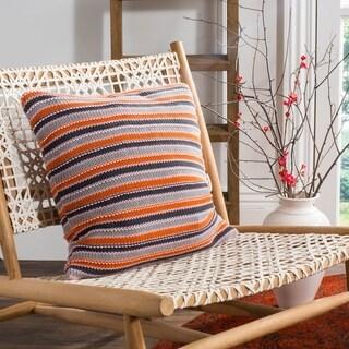 Safavieh Candy Stripe Knit Cotton 20-inch Decorative Pillow