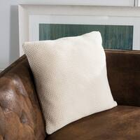 Safavieh Snug Knit Cotton Natural 20-inch Decorative Pillow
