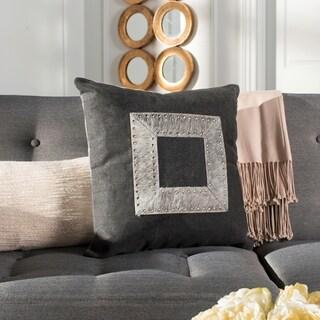Safavieh Laurel Grey Studded Cowhide 20-inch Decorative Pillow