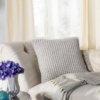 Safavieh Haven Knit Cotton Grey 20-inch Decorative Pillow