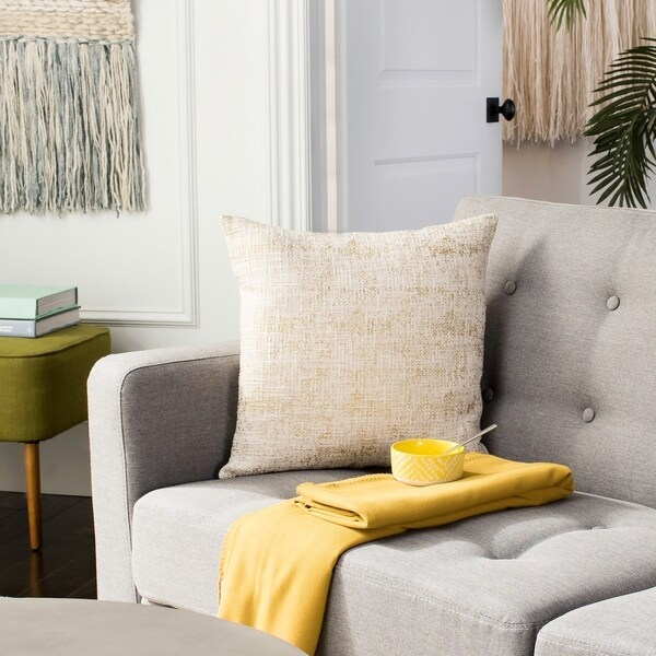 Safavieh Golden Foil 20-inch Decorative Pillow