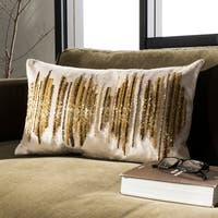 Safavieh Deston Darling Boho Sequin Beige/ Gold 12 x 20-inch Pillow