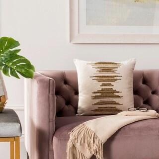 Safavieh Deston Darling Boho Sequin Beige/ Gold 20-inch Decorative Pillow