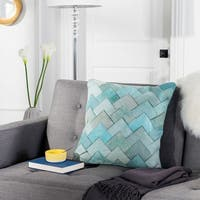 Safavieh Draper Teal Cowhide 20-inch Pillow