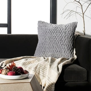 Safavieh Caine Ruched Grey 20-inch Decorative Pillow