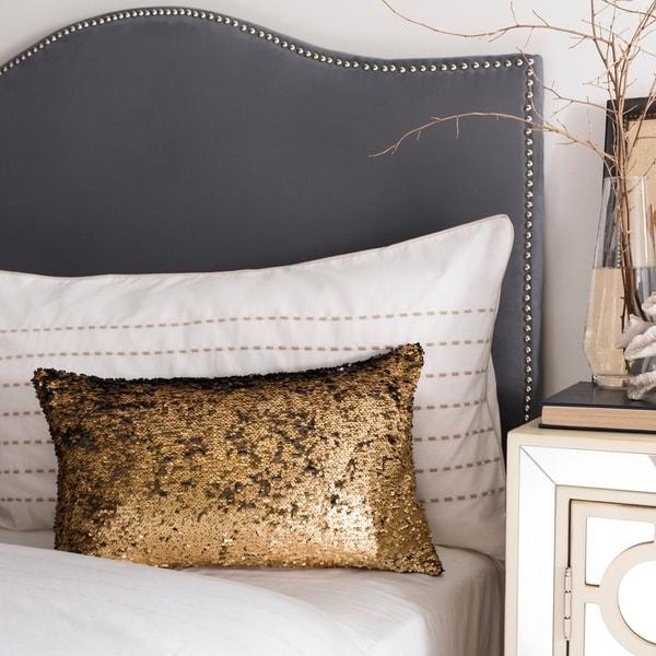 Safavieh Talon Sequin Gold 12 x 20-inch Decorative Pillow