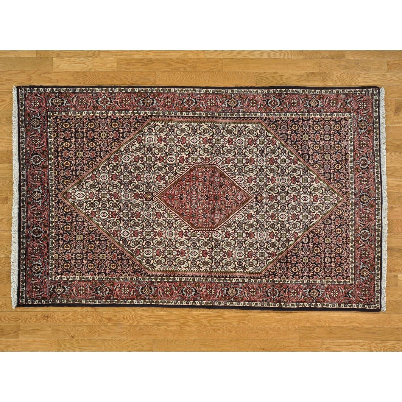 Hand Knotted Ivory Persian with Wool Oriental Rug - 46 x 75