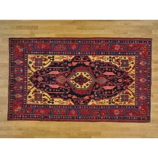 Hand Knotted Black Persian with Wool Oriental Rug - 5'5 x 9'2