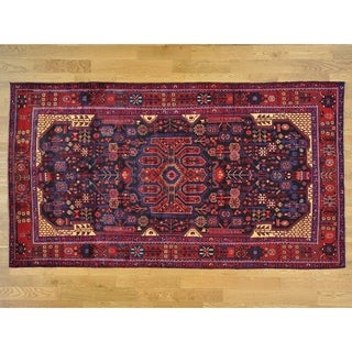 Hand Knotted Black Persian with Wool Oriental Rug - 5'8 x 10'4